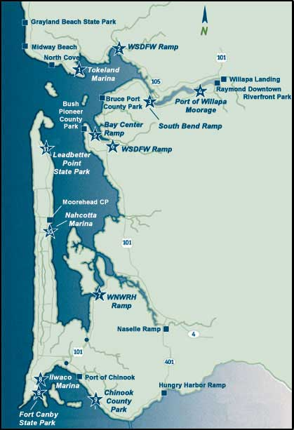 Willapa Bay Trail Map