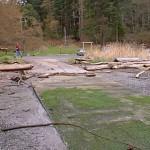 Boat ramp at NE corner of Smallpox Bay