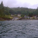 Boat ramp and fishing pier at Triton Cove